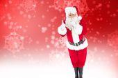 Santa claus keeping a secret — Stock Photo
