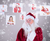 Santa asking for quiet to camera — Foto de Stock