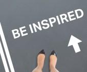 Composite image of businesswomans feet — Stock Photo