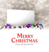 Merry christmas against poster — Foto Stock