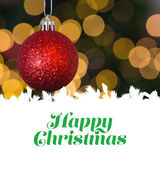 Happy Christmas message — Foto Stock