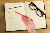 Composite image of new years resolutions — Photo