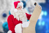 Santa checking list — Foto de Stock