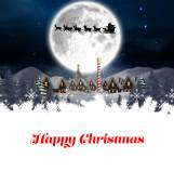 Composite image of happy christmas — Stock Photo