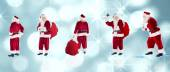 Composite image of different santas — Stock Photo