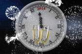 Composite image of clock counting to midnight — Photo