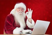 Santa is satisfied — Stock Photo
