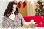 Relaxed brunette reading — Photo