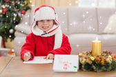 Festive little boy smiling — Foto de Stock