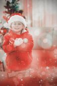 Festive little boy smiling at camera — Stock Photo