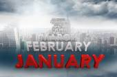Composite image of list of months — Stock Photo