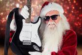 Ather Christmas shows guitar — Stock Photo