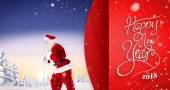 Santa claus pulling rope — Стоковое фото