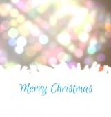 Merry Christmas against light circles — Stock Photo