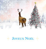 Composite image of Christmas greeting card — Stock Photo