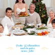 Family celebrating christmas dinner — Stock Photo #62500753