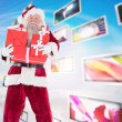 Santa carries few presents — Stock Photo #62503841
