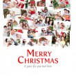 Collage of families celebrating Christmas — Stock Photo #62503895