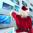 Santa Claus points at something — Stock Photo #62506693