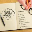 Hand writing with pencil — Stock Photo #62509497