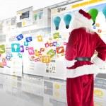 Santa looks away from camera — Stock Photo #62509771