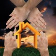 Hands making house shape — Stock Photo #62509809