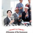 Manager and team with novelty Christmas hat — Stock Photo #62509889