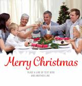Family drinking toast in Christmas dinner — Stock Photo