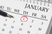 Composite image of january on calendar — Photo