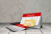 Composite image of new years resolutions — Stock Photo