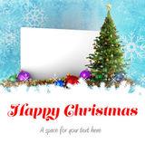 God jul mot affisch — Stockfoto