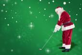 Santa Claus is playing golf — Foto de Stock