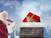 Santa writing his list — Stock Photo