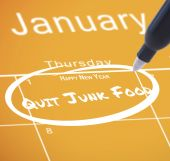 New years resolution on calendar — Foto Stock