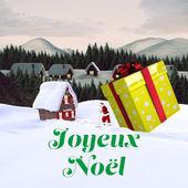 Composite image of joyeux noel — Fotografia Stock