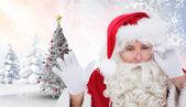 Composite image of santa — Stock Photo