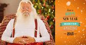 微笑不穿上衣的圣诞老人 — 图库照片