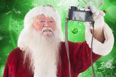 Santa Claus makes selfie — Stock Photo