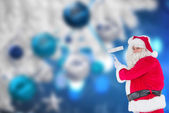 Happy santa claus painting — Foto de Stock