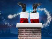 Santa claus boots — Stock Photo