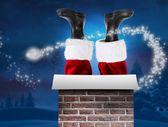 Santa claus laarzen — Stockfoto