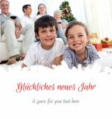 Smiling children looking for presents — Stock Photo