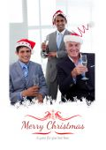 Businessmen wearing novelty Christmas hat — Stock Photo