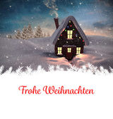 Christmas greeting in german — Stock Photo