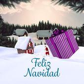 Composite image of feliz navidad — Fotografia Stock