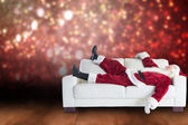 Santa Claus taking a nap — Stock Photo