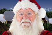 Santa smiles in the camera — Stock Photo
