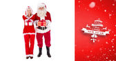 Santa and Mrs Claus smiling — Stock Photo