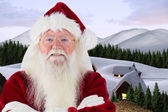 Santa smiles with folded arms — Foto Stock