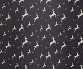 Grey and white reindeer pattern wallpaper — Foto Stock